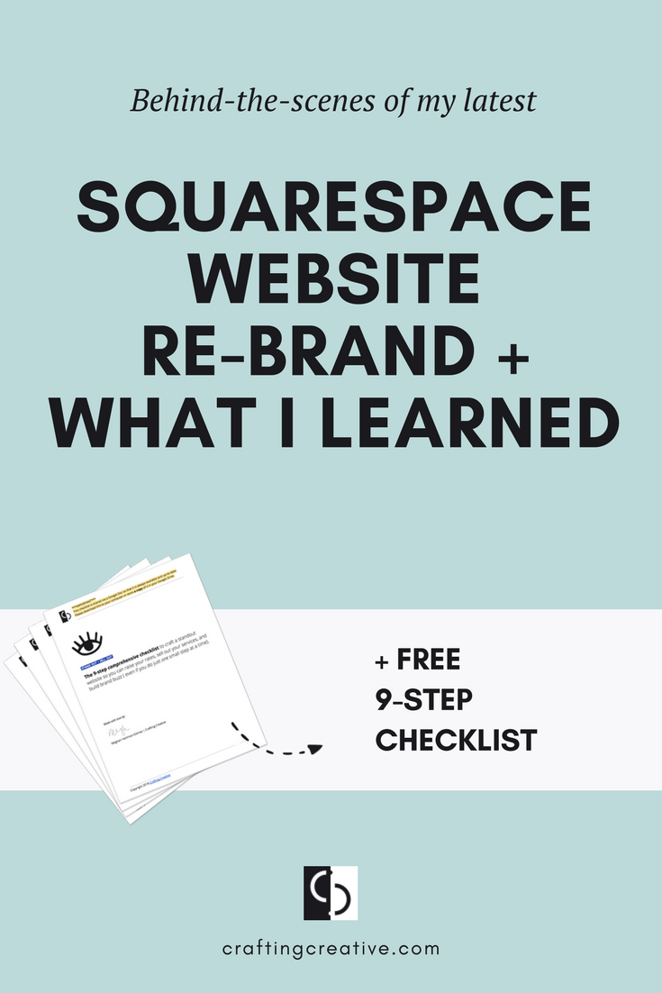 An informal video chat on why I decided to redesign my site (again), some tips for doing a Squarespace website rebrand, as well as why I'm leaving Squarespace. Plus, a super thorough website checklist for you. Click through to get it!