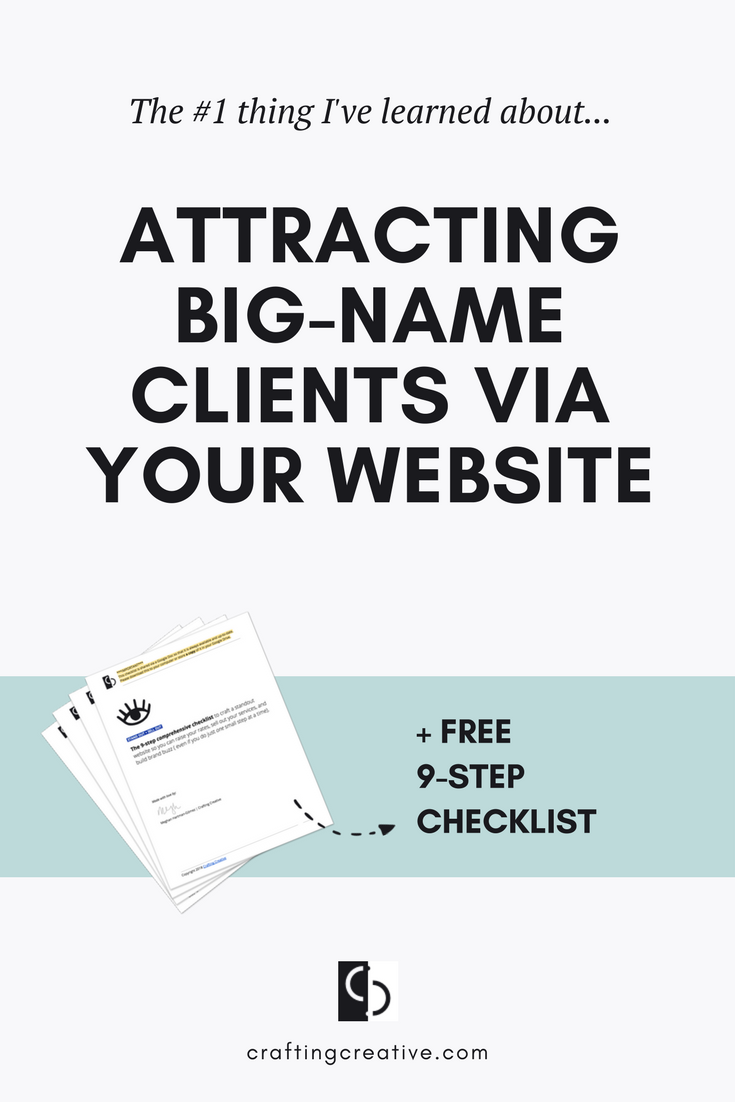 My website has attracted some big-name clients. But, guess what? I didn't pitch them. They each reached out to me and INVITED me to work with them. How? Click through to find out.