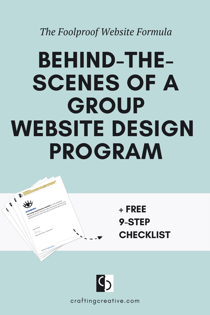 The Foolproof Website Formula is NOT a course. This is an intensive group program that I'm running live with a limited number of women entrepreneurs (6 to be exact). And it's the next best thing to working with me 1:1 to create your website. Get the inside scoop...