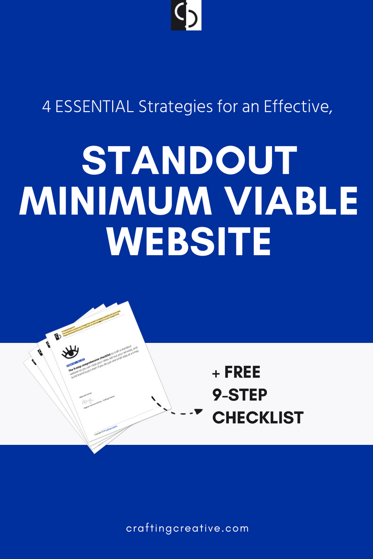 """This strategic guide to the """"Minimum Viable Website"""" is in answer to one particular question I've gotten again and again: """"What's the minimum viable version of a website I can create for my business?"""" Click through to get the full-on MVP strategy AND a free website checklist!"""