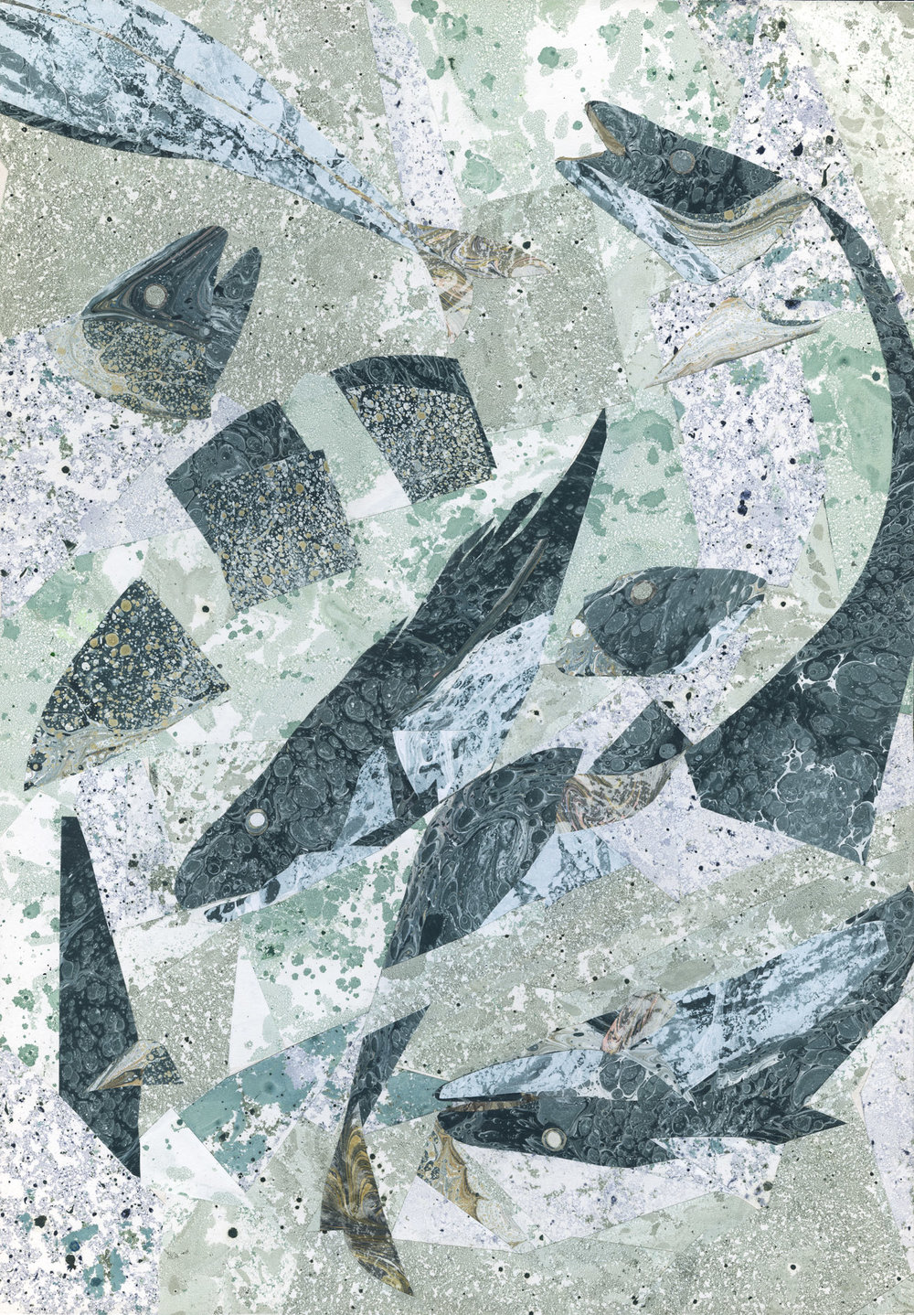 Illustration for Zwykłe  Życie Magazine  / marbling, collage