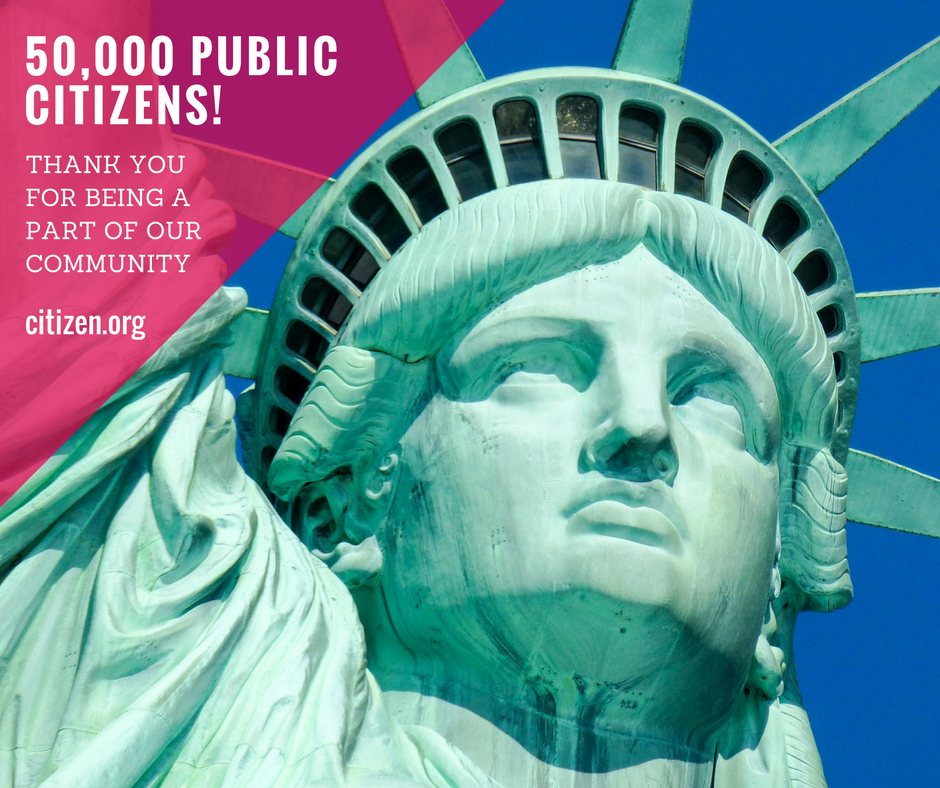 public citizen social media graphic