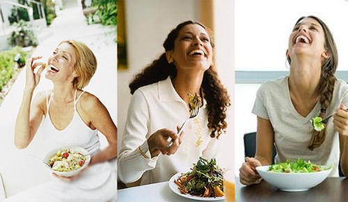 (Fun fact: There's an entire    tumblr    devoted to bad stock images of women laughing alone with salad.  Why are we always laughing at our salads?!)
