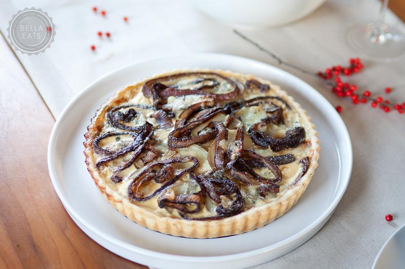 potato, red onion + blue cheese tart — Bella Eats