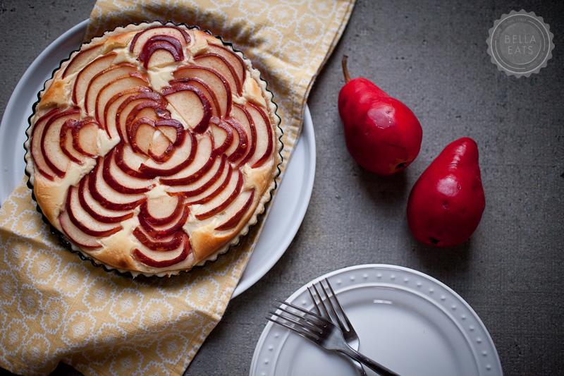 pear, ricotta + honey tart — Bella Eats