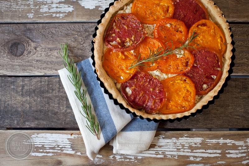 tomato + goat cheese tart with rosemary crust — Bella Eats