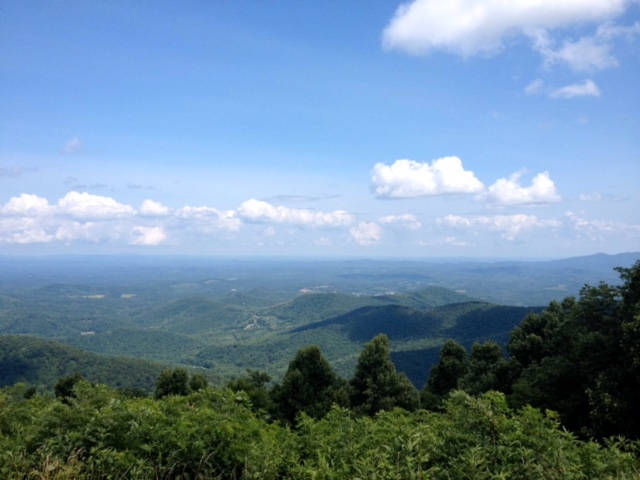 This is a photo of the beautiful Blue Ridge Mountains near my hometown in Virginia.