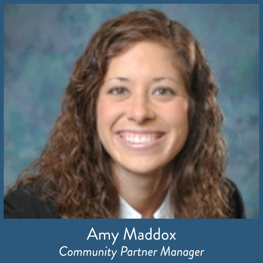 Amy Maddox, Community Partner Manager