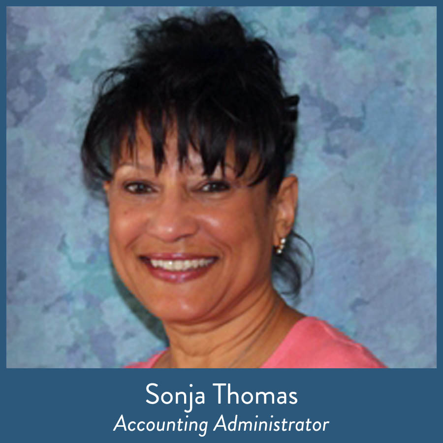 Sonja Thomas, Accounting Administrator