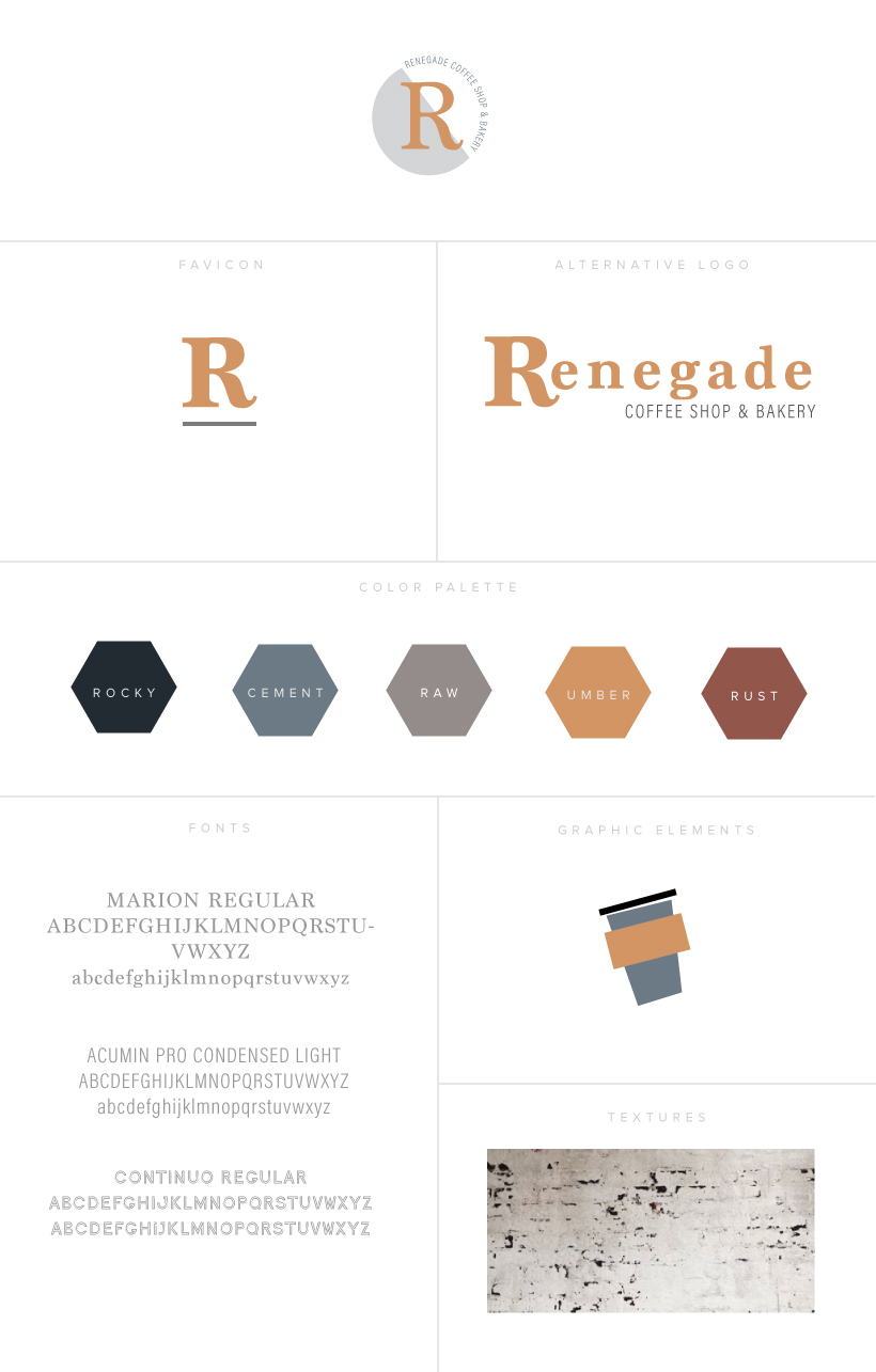 renegade coffee branding and style guide