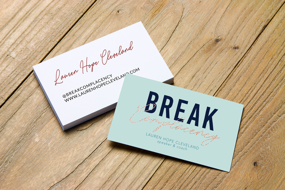 business card design for life coach and speaker