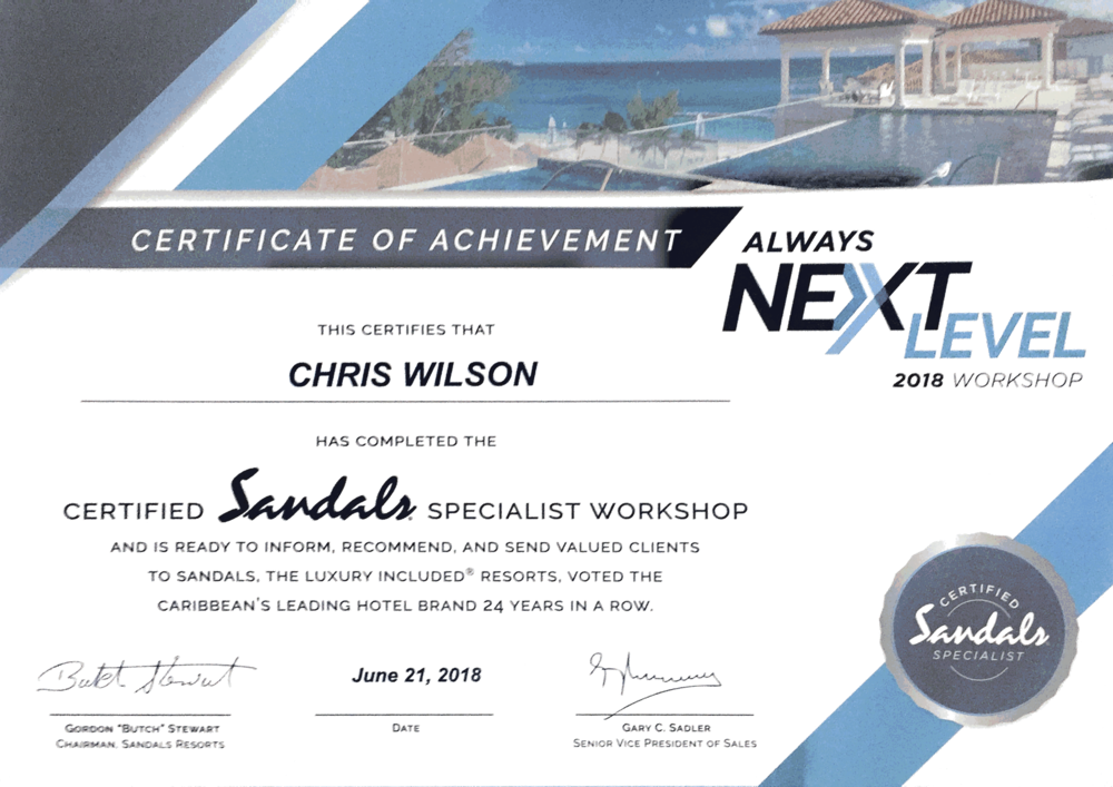 Sandals Certification 2018.png