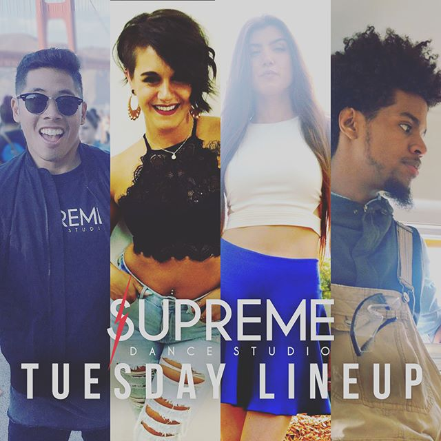 Supreme Tuesday Class Lineup!!! We hope to see everyone for the first day of the Program Session! #wearesupreme #supremedancestudio #supreme #tuesday #firstday