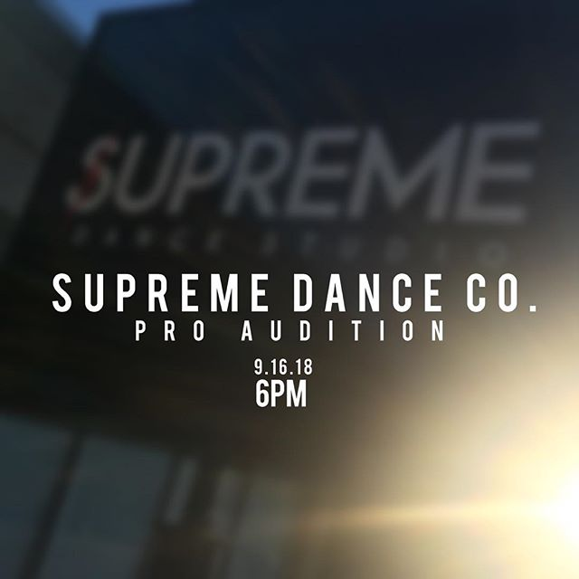 Come out this Sunday to audition for one of our new pro division teams! This team will focus heavily on growth and training with the end goal of competing at industry level competitions.  See you Sunday! #wearesupreme #supremedancestudio #supreme #hiphop #hiphopdance #chicago #pro