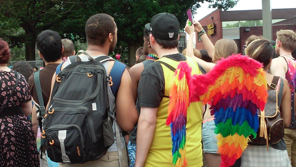 Angel at the 2015 Seattle Pride Parade (c) Martha Burwell
