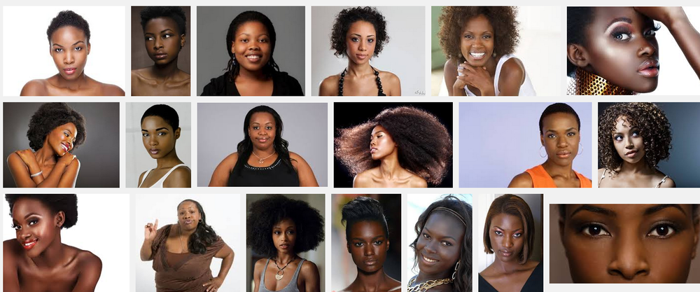 "Google image search for ""black woman"""