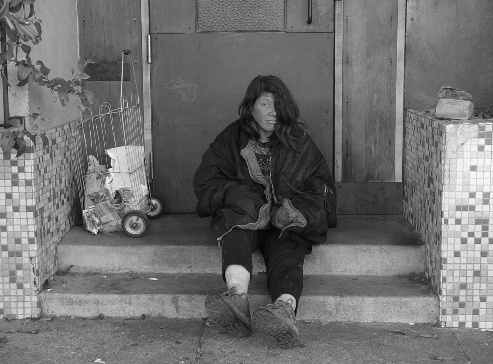San Francisco Homeless   by  Franco Folini  is  licensed under   CC BY 2.0.