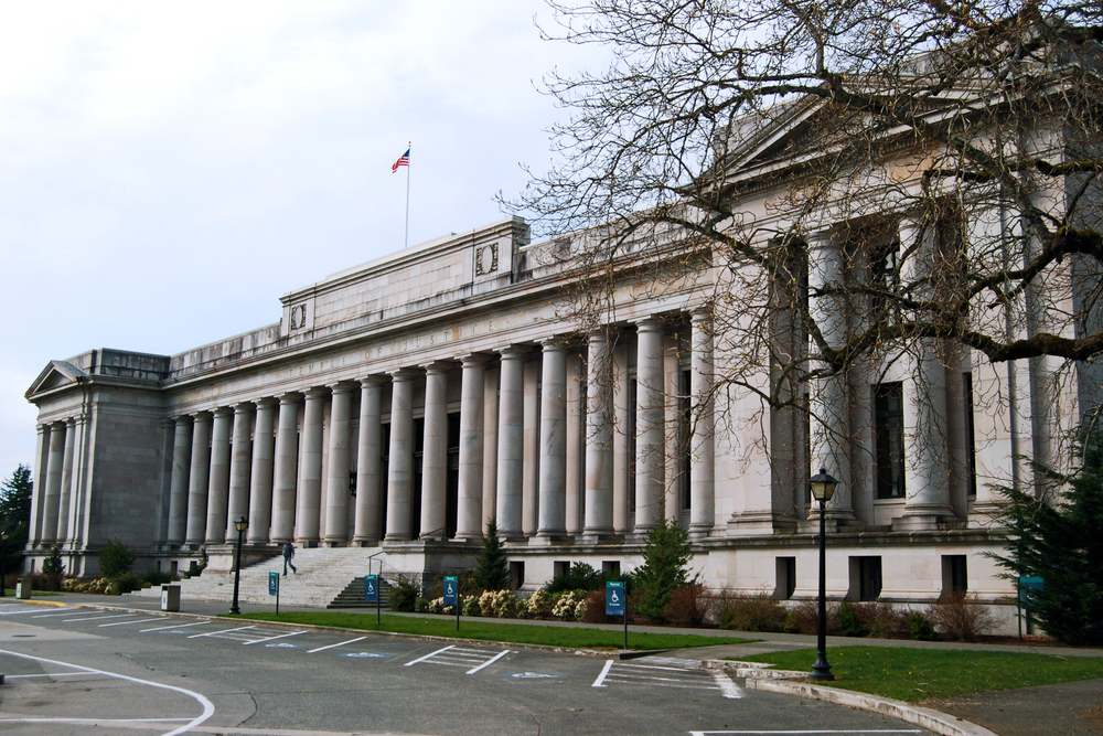 The Temple of Justice , Home to Washington's State Supreme Court  by  Harvey Barrison   is  licensed under   CC BY 2.0.