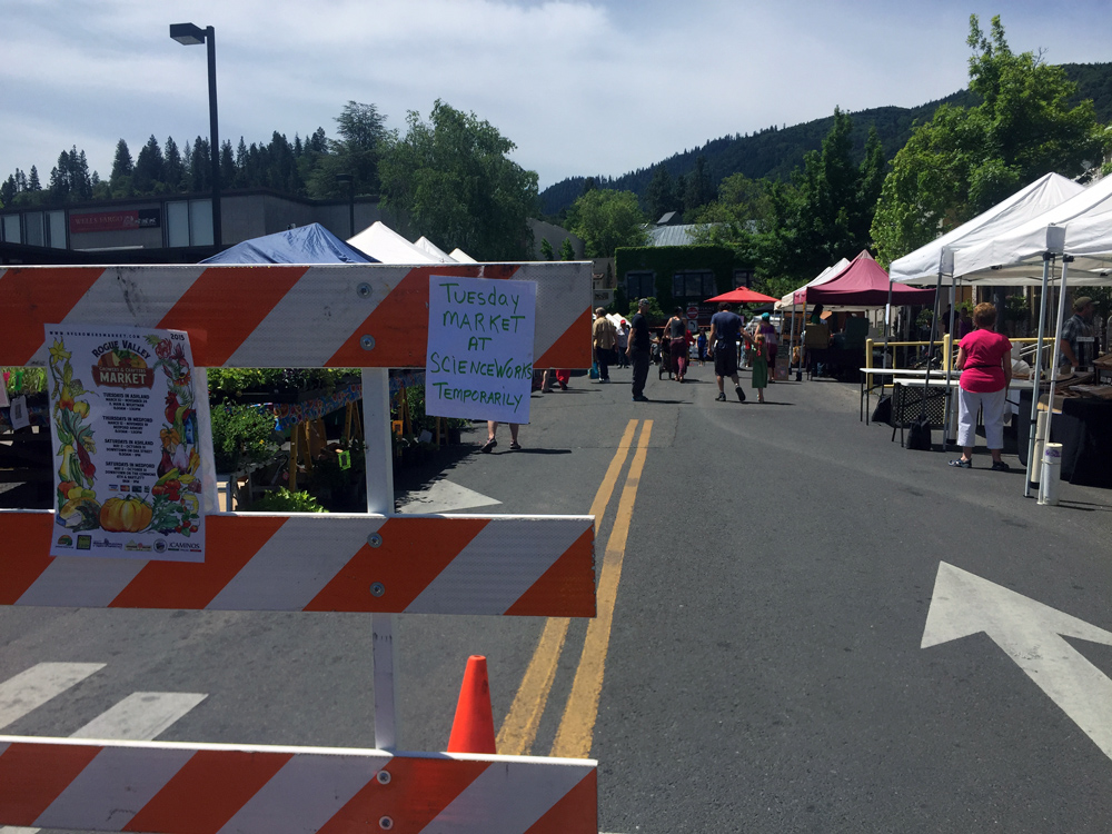 Saturday morning Farmer's Market in downtown Ashland.