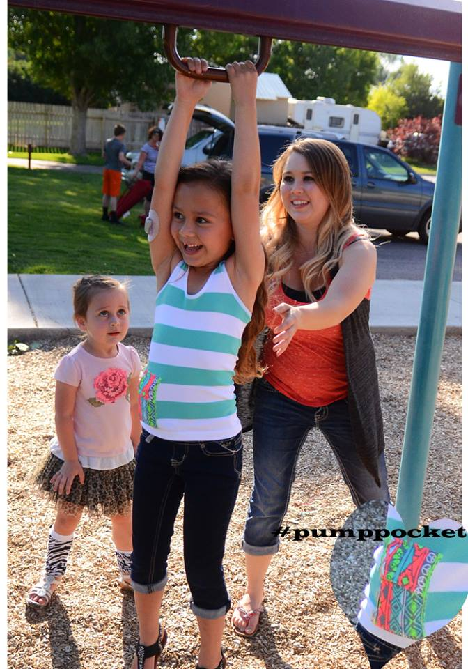 Taylor, hanging out and being a kid. PumpPockets make it possible.