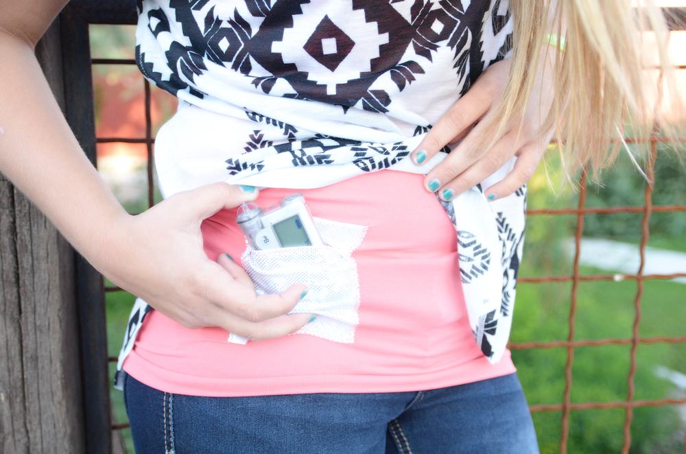 """""""Womens Hip T1D PumpPocket"""" Insulin Pump TechTank"""