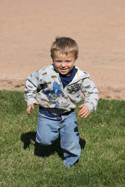 Toddler with type 1 diabetes