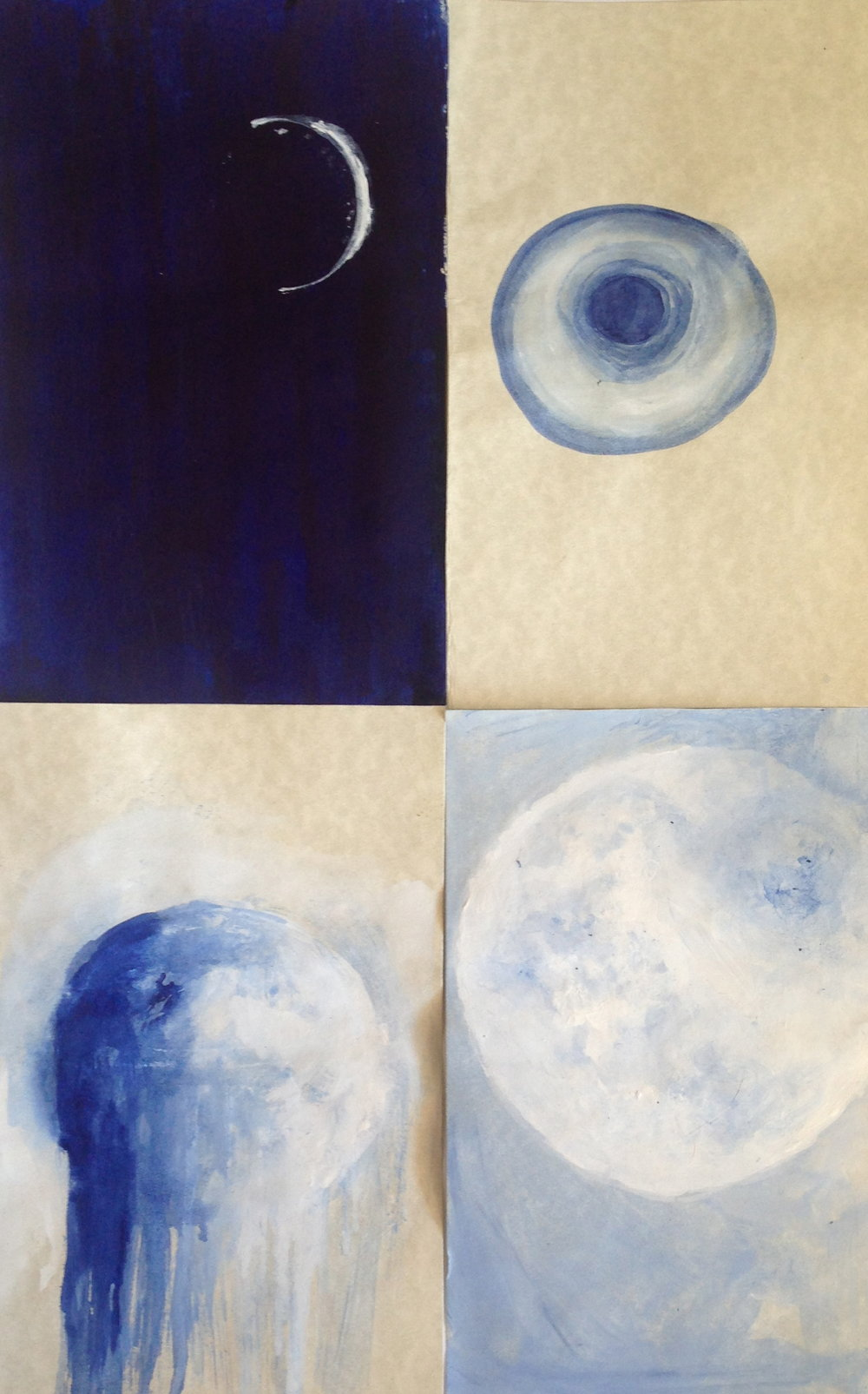 Moon Phase painting series 4/36