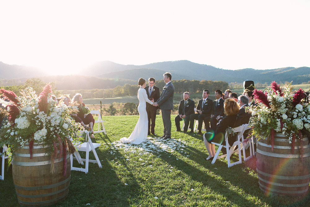 Wedding Ceremony Pippin Hill Farm Charlottesville Luxury Wedding Planner A Beyoutiful Fete Events and Design