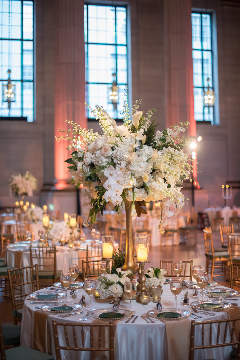 Wedding Tall Centerpiece Andrew Mellon DC Luxury Wedding Planner A Beyoutiful Fete Events and Design