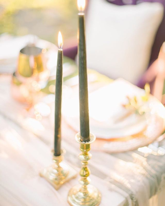 The devil is in the details and little intentional additions can have a big impact. Isn't it absolutely amazing how something as simple as two colored taper candles can truly transform a tablescape!?! That's the art of design! 🖤 — planning + design: @abeyoutifulfete |photo: @joffoto | florals: @beaumontflowers . — #imengaged #isaidyes #shesaidyes #theperfectpalette #simplicity #weddingwednesday #tablescape #candles #ambiance #summerwedding #outdoorwedding #sweethearttable #detailsdetailsdetails #weddings #details #vaweddings #dcweddingplanner #virginiaweddingplanner #dceventplanner #dcweddingdesigner #acolorstory #abeyoutifulfete #fashioninfused #styleinspired #weddingstyling #abfexperience #allthethings #weddingdream #ido #abftouch