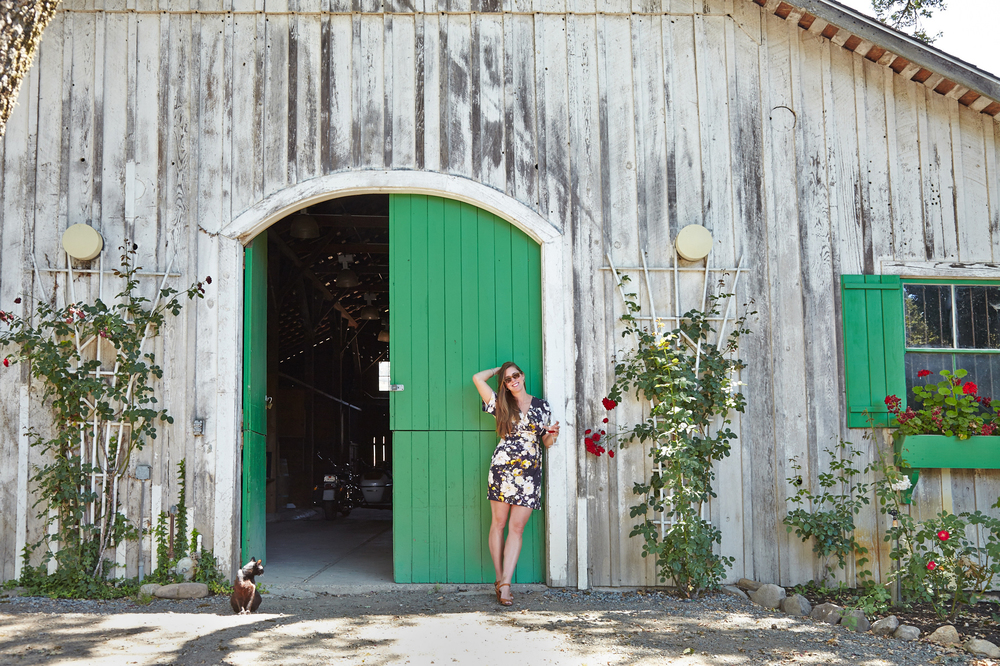Abi in front of the barn at Annadel Estate Winery !