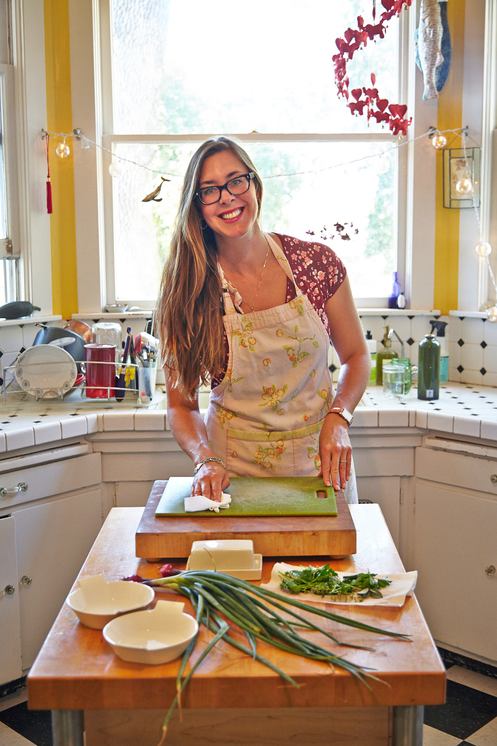 Abi at ease in her adorable farmhouse kitchen at Annadel Estate !