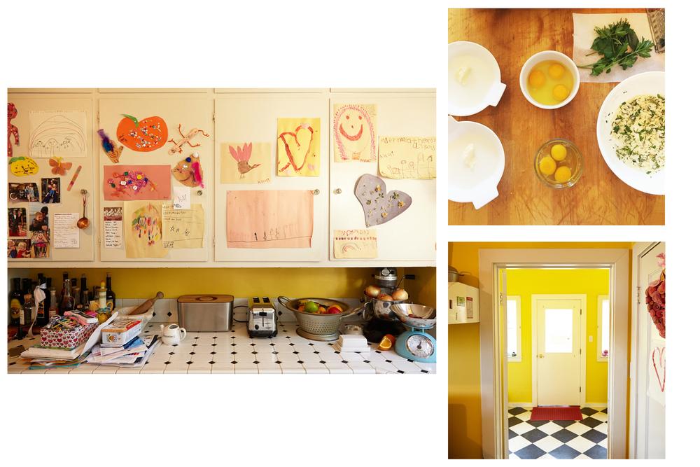 Abi's beautiful porch and cozy kitchen, home to @abisfarmhousekitchen !
