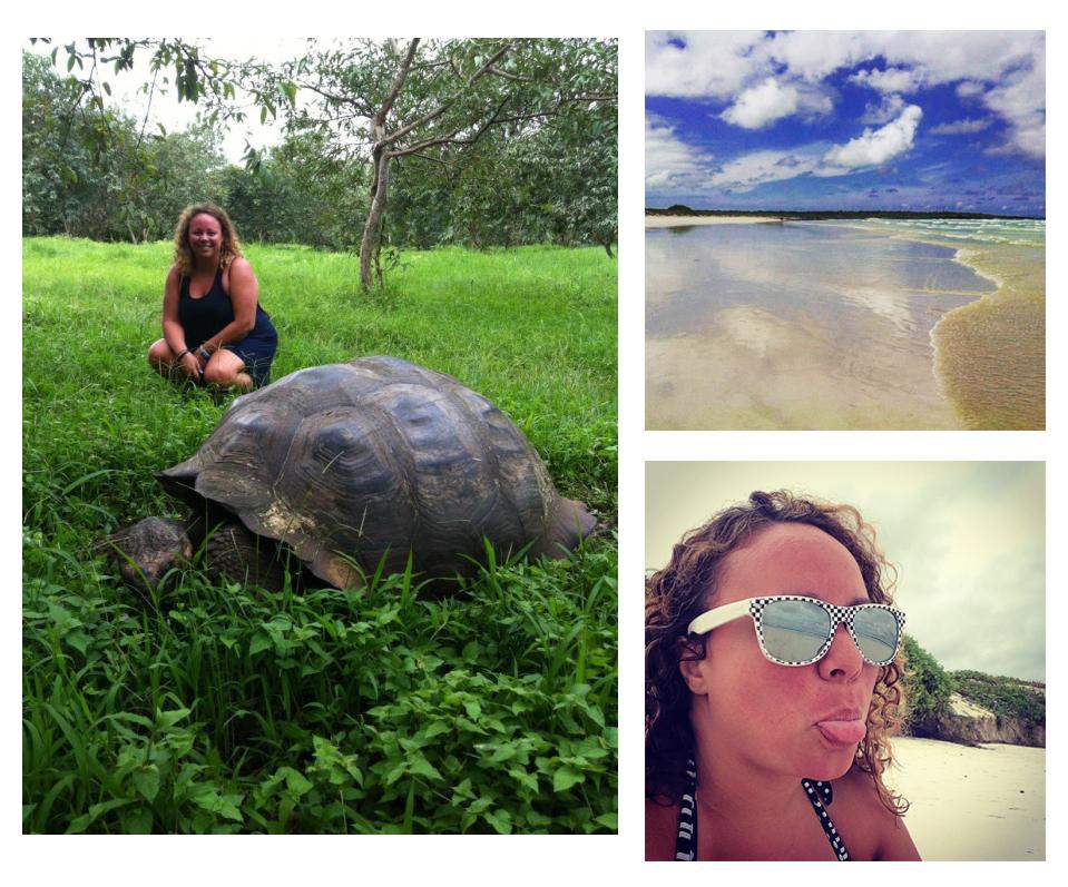 Jenna exploring The Galapagos Islands (photos by @jennalogic)