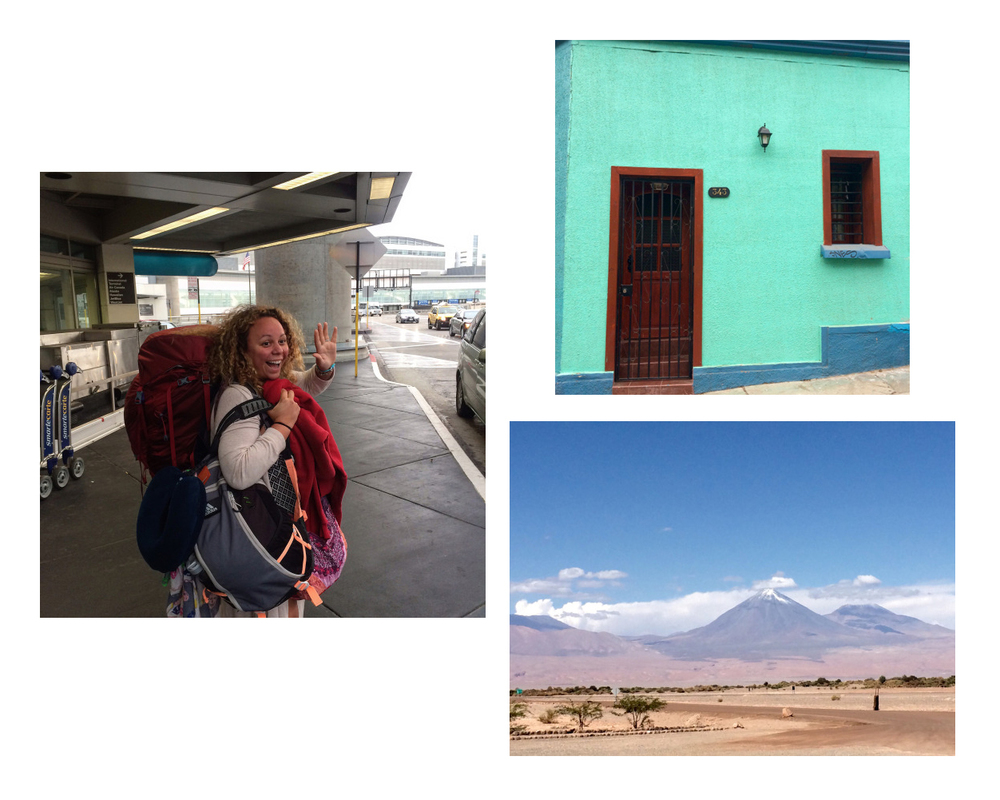 Jenna off to South America, bright walls and doors in Valparaiso, landscape in Chile (photos by @jennalogic)