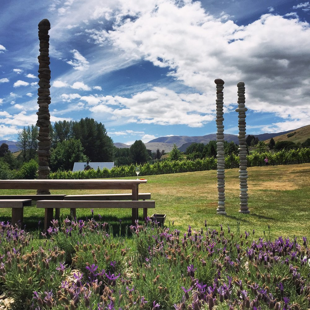 Amisfield Winery is a beautiful lunch stop with outdoor seating and stunning views