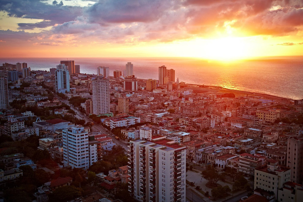 Sunset over Havana on my first night