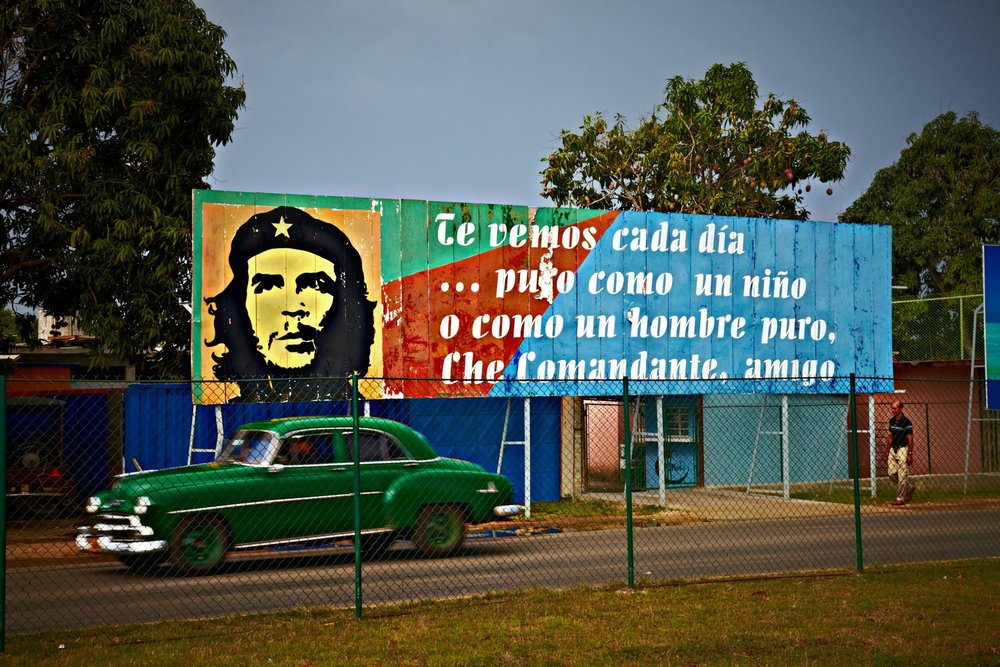 "The ""surrealism,"" as the Cubans call it - of seeing a 1950s American car set against the backdrop of revolutionary Che Guevara"