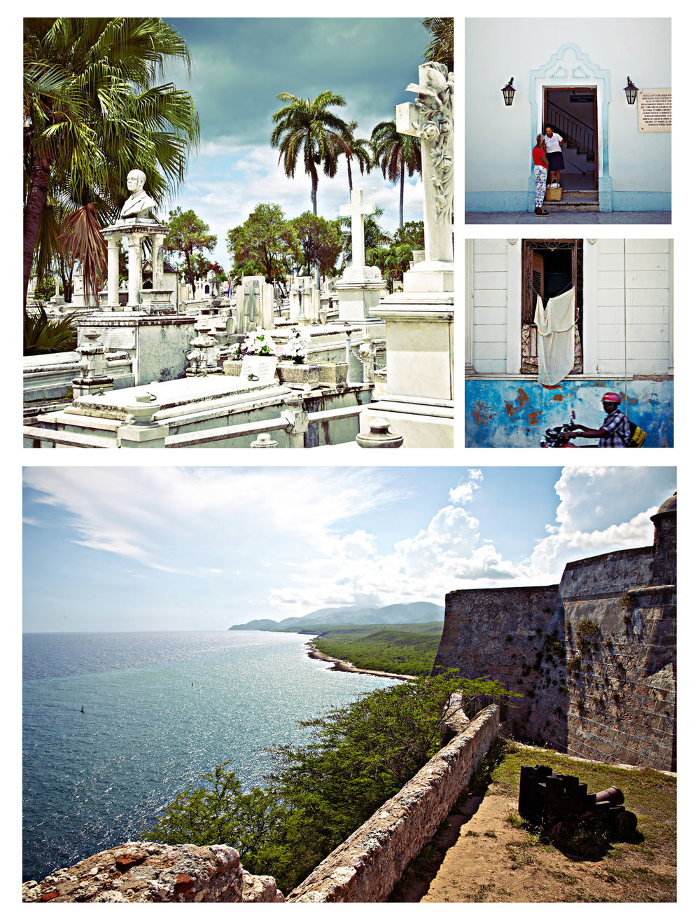 Scenes around Santiago de Cuba (top) Castillo El Morro (castle on the other side of the Havana harbor)