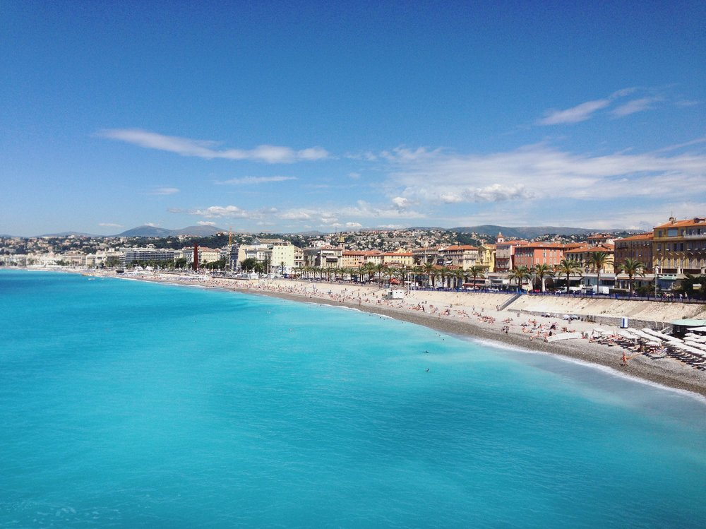 Vibrant turquoise waters meet easy summer vibes in Nice, the largest city on the Riviera