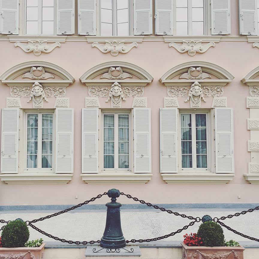 Pristine facades in Monaco