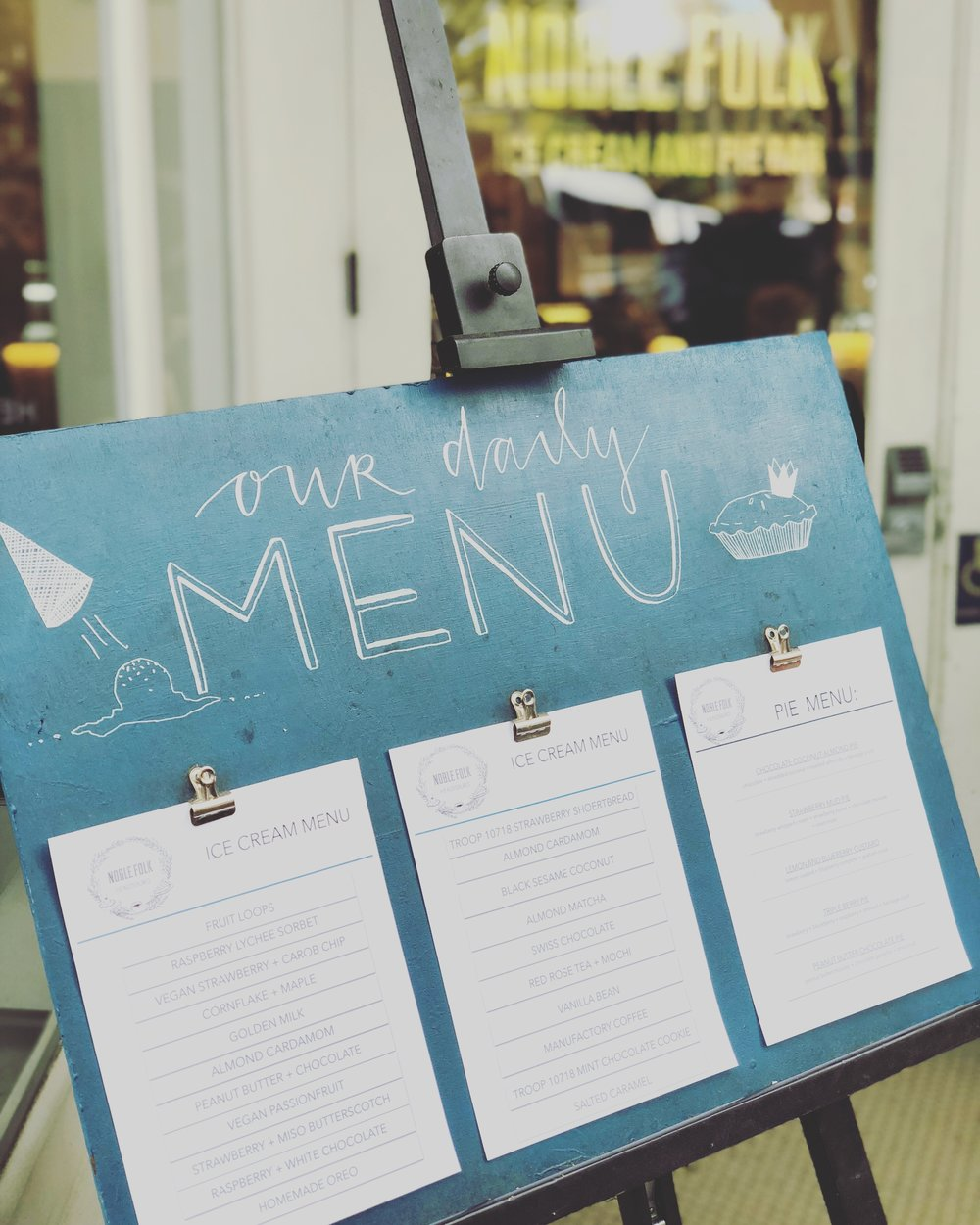 Local, hand-crafted ice cream and pies at Noble Folk