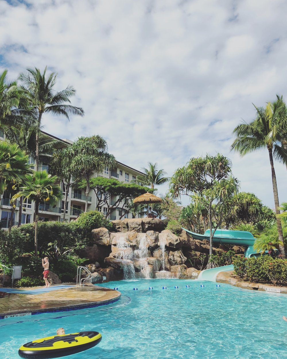 The resort's super fun, underused waterslide