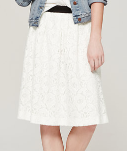 LOFT Full Lace Skirt