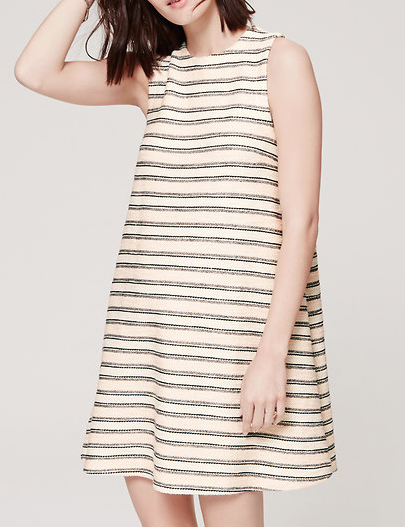 LOFT Textured Swing Dress