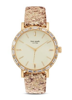 Kate Spade Gold Glitter Watch