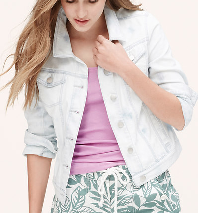 http://www.loft.com/denim-jacket-in-mallow-wash/361494?skuId=18662788&defaultColor=&colorExplode=false&catid=catl000018&priceSort=DESC
