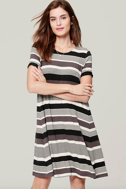 http://www.loft.com/mixstripe-trapeze-dress/385617?skuId=19506081&defaultColor=&colorExplode=false&catid=catl000013&priceSort=DESC