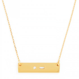 Baublebar Morse Code Initial Necklace