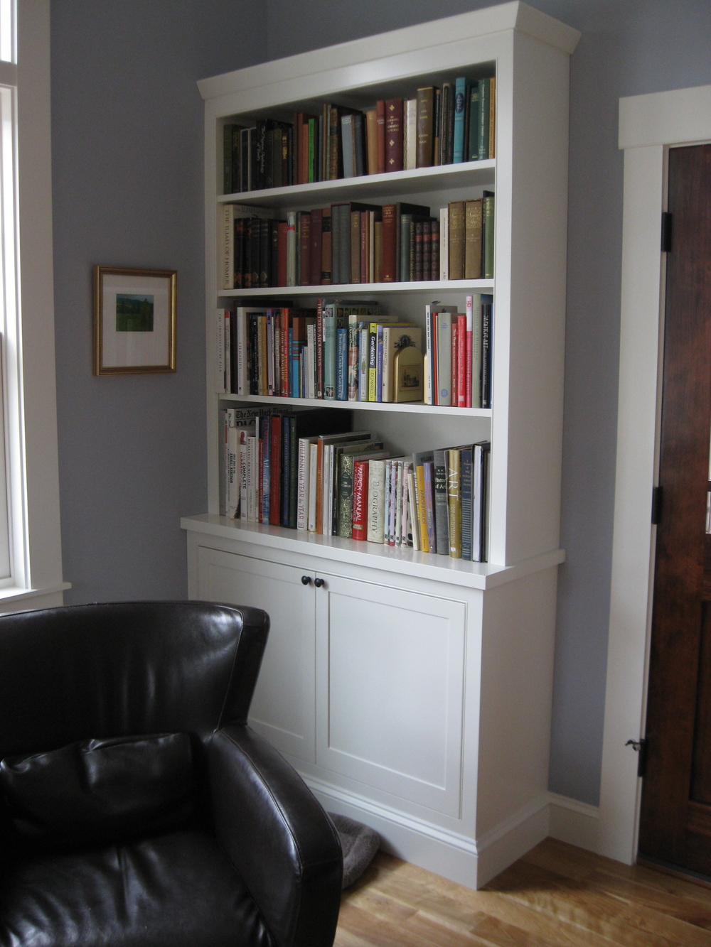Custom Designed Built-In Book Shelf